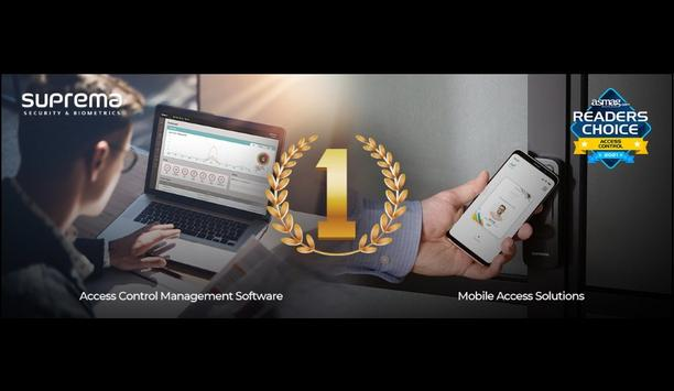 Suprema Rated As The Top Brand For Access Control Management Software And Mobile Access Solution