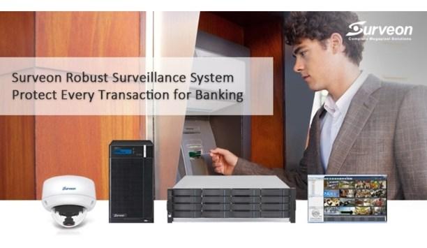 Surveon enhances bank security with its video surveillance solution