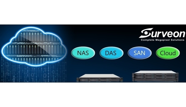 Surveon Cloud NVR Solutions with multiple storage architectures facilitate efficient system integration
