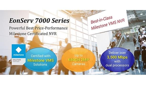 Surveon launches Milestone certified EonServ 7000 Series surveillance NVR
