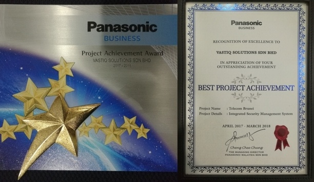 Vastiq Solutions receives Panasonic's Best Project Achievement Award for security integration project