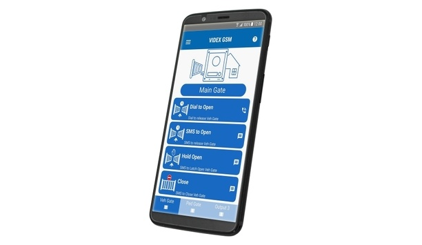 Videx's app for GSM intercom system simplifies programming and usability for end users and installers