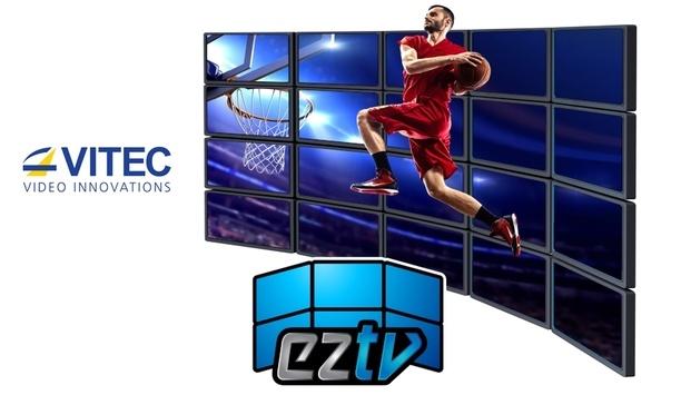 VITEC's EZ TV IPTV and Digital Signage Platform facilitate video wall management