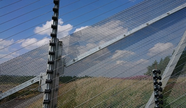 Zaun's ArmaWeave fencing raking installation method installed at a high security site