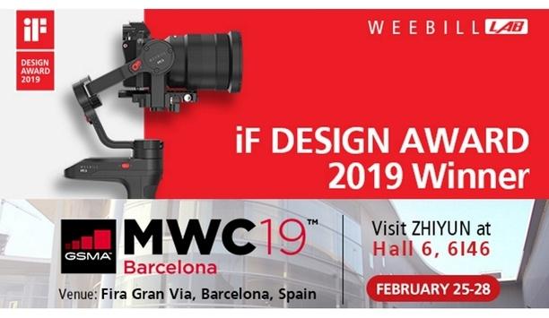 Zhiyun to exhibit its award-winning camera stabilisers at Mobile World Congress 2019
