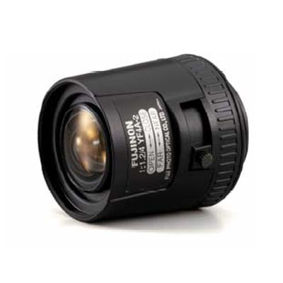 Fujinon YF2.8A-2 CCTV camera lens with manual iris