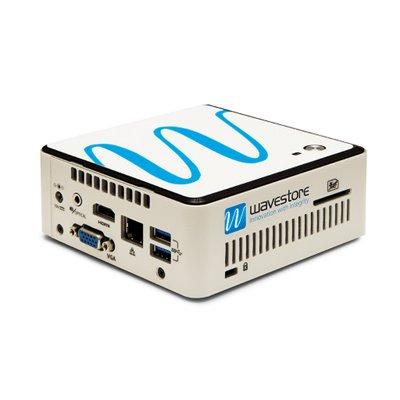 Wavestore AC1-2PU1-NR-1G-NA-S11 compact desktop and VESA mount (bracket supplied) NVR, 2TB storage
