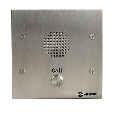 Aiphone AMP-LE-F/1 - 1 button flush stainless steel audio panel