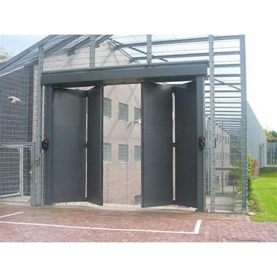 AMC Security Bi-Fold Gates fully welded steel construction