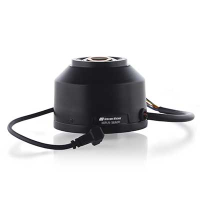 Arecont Vision MPL9-36MPI IR corrected, motorised remote focus/zoom, P-Iris lens with CS mount