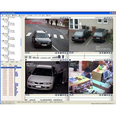 artec MULTIEYE NetworkPlayer CCTV software with efficient analysis of recordings