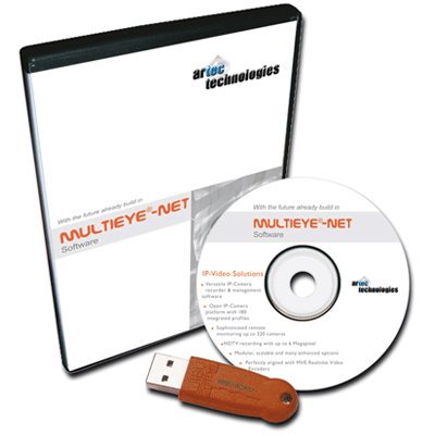 artec MULTIEYESDK CCTV software with video transmission and alarm management