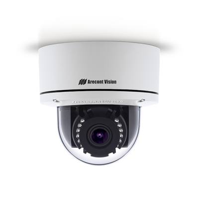 Arecont Vision AV02CLD-100 1080p H.265/H.264 All-in-One Motorized P-Iris Lens True Day/Night Indoor/Outdoor Dome IP Camera