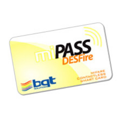 Bosch Security Systems miPASS DESFire smart card has a write endurance of 100,000 cycles