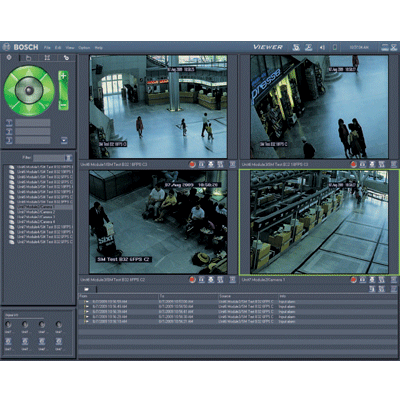 Bosch Video-over-IP (BVIP) Lite Suite CCTV software with automated guard tours