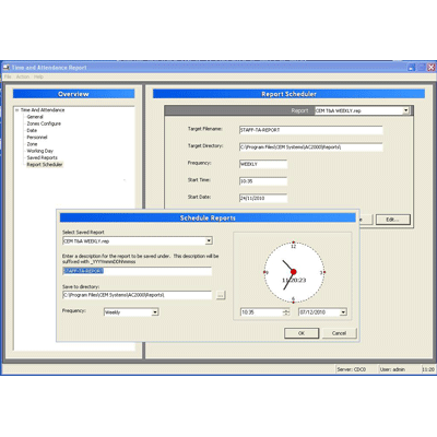 CEM AC2000 T&A - time and attendance software with user friendly interface