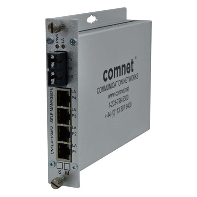 ComNet CNFE4+1SMSS2 10/100 4TX+1FX Ethernet Self-managed Switch