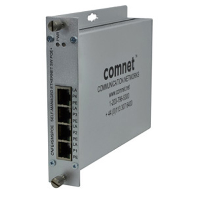 Comnet CNFE4SMSPOE 10/100TX 4TX Ethernet Self-Managed Switch With Power Over Ethernet (PoE)