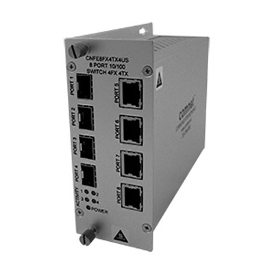Comnet CNFE8US SERIES 10/100 Mbps Ethernet 8 Port Unmanaged Switch; 4 Ports: Electrical To 4 Ports