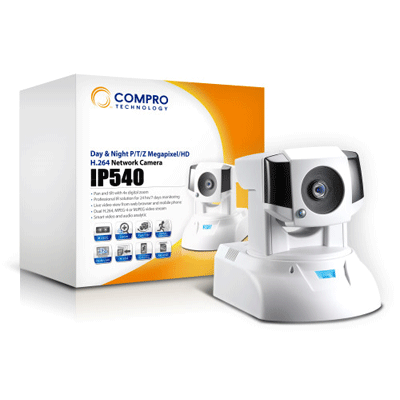 Compro IP540 IP megapixel camera with 1/3 inch chip