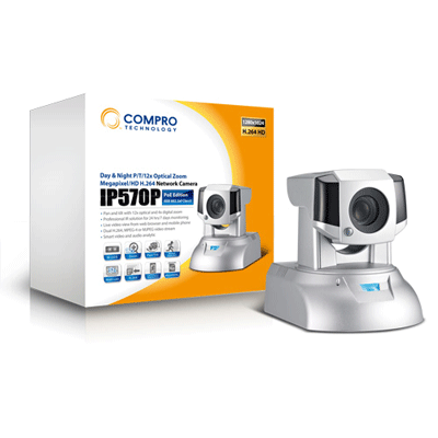 Compro IP570P megapixel IP camera with 1/4 inch chip