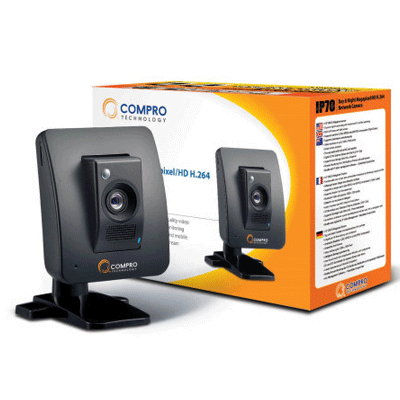 Compro IP70 IP megapixel camera with 1/3 inch sensor