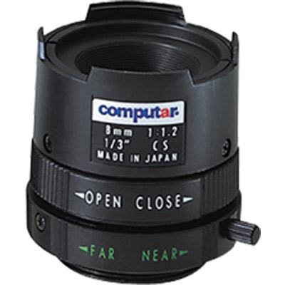 Computar T0812FICS-3 1/3'' CCTV camera lens with CS mount and 8mm focal length