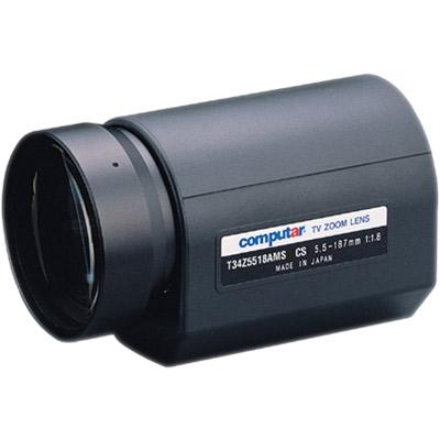 Computar T34Z5518AMS-CS 1/3'' CCTV camera lens with auto iris