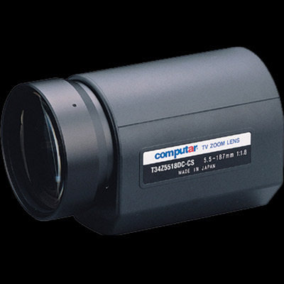 Computar T34Z5518DC-CS CCTV camera lens with auto iris and direct drive