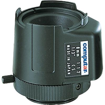 Computar TG0812FCS-3 1/3'' CCTV camera lens with CS mount, auto iris, and direct drive