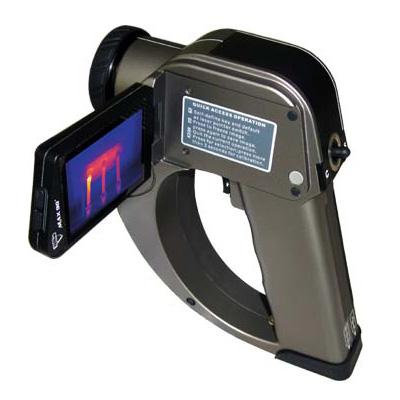 DALI TEi thermal imaging CCTV camera with LCD rotatable screen