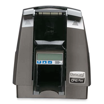 Datacard CP40 PLUS CARD PRINTER video printer with magnetic stripe encoding