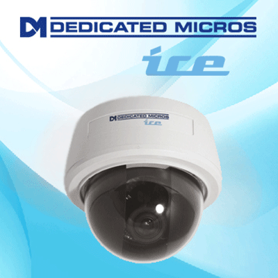 Dedicated Micros DM/ICEDVS-CMU39 dome camera with 360° pan adjustment