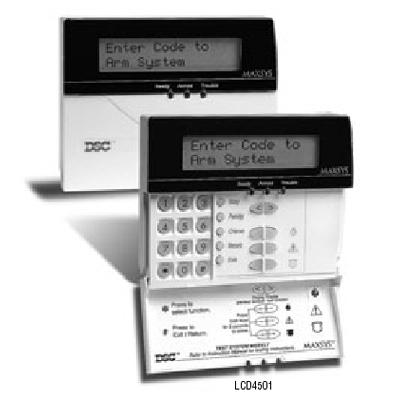 DSC LCD4501T Intruder alarm system control panel