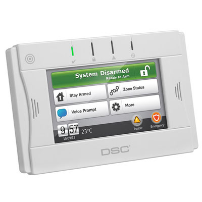 DSC WTK5504 2-way wireless touchscreen arming station