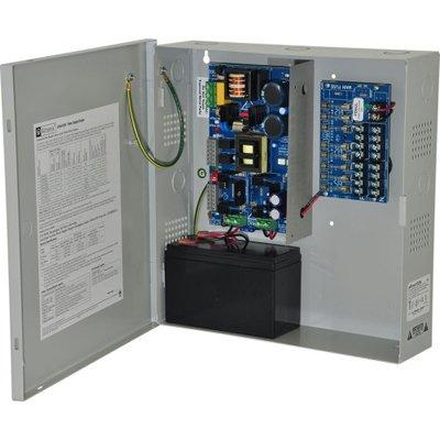 Altronix eFlow102N8 Power Supply Charger, 8 Fused Outputs, 12VDC @ 10A, Aux Output, FAI, LinQ2 Ready, 115VAC, BC300 Enclosure