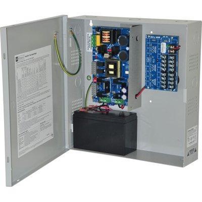 Altronix eFlow102N8DV Power Supply Charger, 8 PTC Class 2 Outputs, 12VDC @ 10A, Aux Output, FAI, LinQ2 Ready, 220VAC, BC300 Enclosure