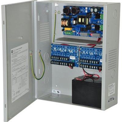 Altronix eFlow102NX16DV Power Supply Charger, 16 PTC Class 2 Outputs, 12VDC @ 10A, Aux Output, FAI, LinQ2 Ready, 220VAC, BC400 Enclosure