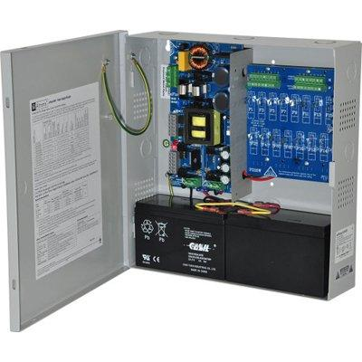 Altronix eFlow104N16DV Power Supply Charger, 16 PTC Class 2 Outputs, 24VDC @ 10A, Aux Output, FAI, LinQ2 Ready, 220VAC, BC300 Enclosure