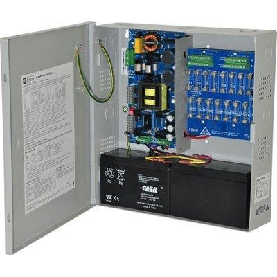 Altronix eFlow104N16V Power Supply Charger, 16 Fused Outputs, 24VDC @ 10A, Aux Output, FAI, LinQ2 Ready, 220VAC, BC300 Enclosure
