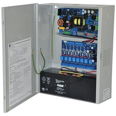 Altronix eFlow104NA8DV Access Power Controller w/ Power Supply/Charger, 8 PTC Class 2 Relay Outputs, 24VDC, 10A, Aux Output, FAI, 220VAC, BC400 Enclosure