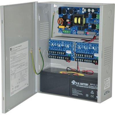 Altronix eFlow104NX16D Power Supply Charger, 16 PTC Class 2 Outputs, 24VDC @ 10A, Aux Output, FAI, LinQ2 Ready, 220VAC, BC400 Enclosure