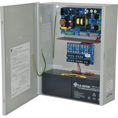 Altronix eFlow104NX8 Power Supply Charger, 8 Fused Outputs, 24VDC @ 10A, Aux Output, FAI, LinQ2 Ready, 115VAC, BC400 Enclosure