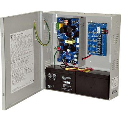 Altronix eFlow3N4V Power Supply Charger, 4 Fused Outputs, 12/24VDC @ 2A, Aux Output, FAI, LinQ2 Ready, 220VAC, BC300 Enclosure
