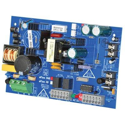 Altronix eFlow3NBV Power Supply Charger, Single Output, 12/24VDC @ 2A, Aux Output, FAI, LinQ2 Ready, 220VAC, Board