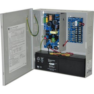 Altronix eFlow4N8 Power Supply Charger, 8 Fused Outputs, 12/24VDC @ 4A, Aux. Output, FAI, LinQ2 Network 115VAC, BC300 Enclosure