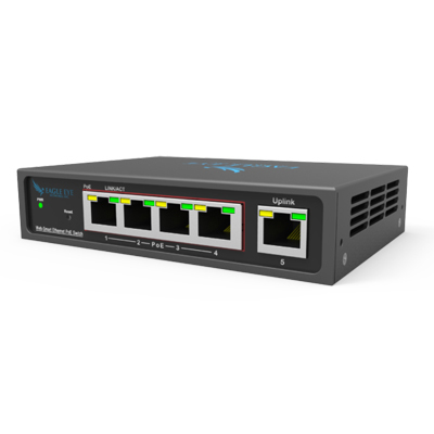 Eagle Eye Networks EN-SW05m-001 PoE switches that integrate with Eagle Eye Security Camera VMS