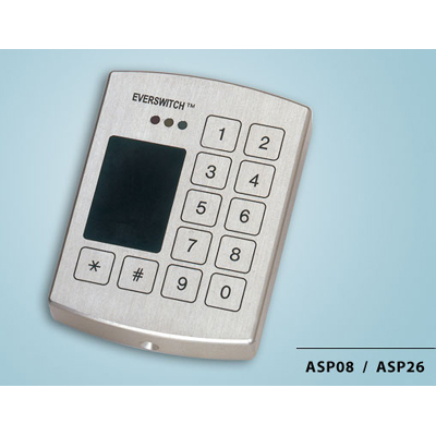 Everswitch ASP08-ASP26 proximity reader with Piezoelectric keypad from Baran Advanced Technologies