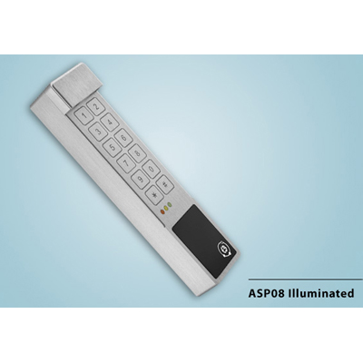 Everswitch ASP08 illuminated proximity reader with Piezoelectric keypad from Baran Advanced Technologies