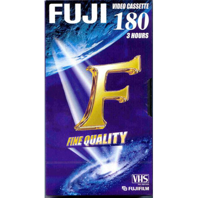 Fuji SD E-180 3 hour VHS tape